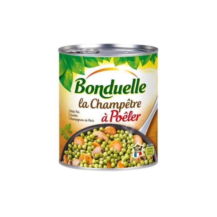 Bonduelle La Champêtre Petits Champignons Carottes à Poêler 600g (lot de 5)