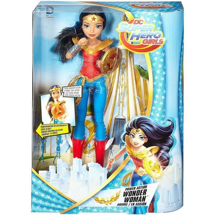 DC Super Hero Girls : Wonder Woman Avec Son et Action - Poupee mannequin - Collector