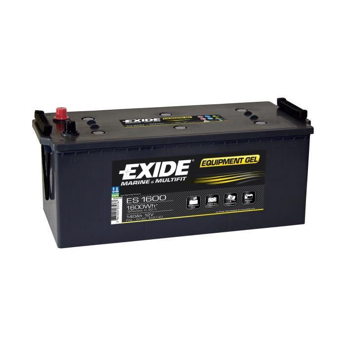 Batterie marine étanche Equipement GEL 140 Ah EXIDE