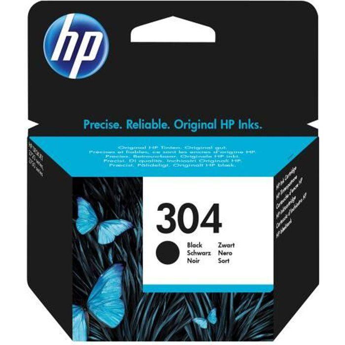 HP 304 Noir originale cartouche d'encre pour AMP 130 Deskjet 26XX, 37XX Envy 50XX