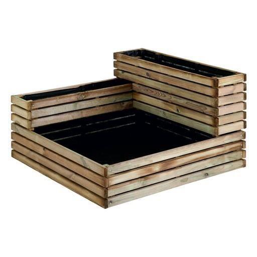 Carré de potager Küb modulable en bois traité