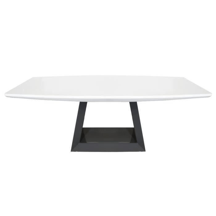 Table basse laquée GRIZZY - Blanc - Blanc 42