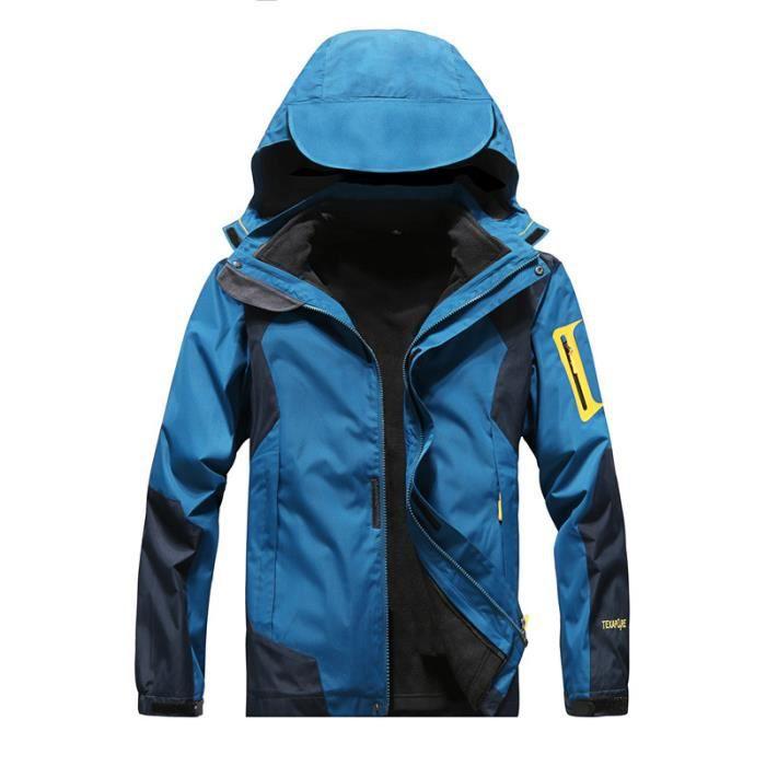 Veste hardshell homme femme imperméable 3 en 1 de montagne 2 pcs Alpinisme randonnée couples coupe-vent chaude respirante antiusure