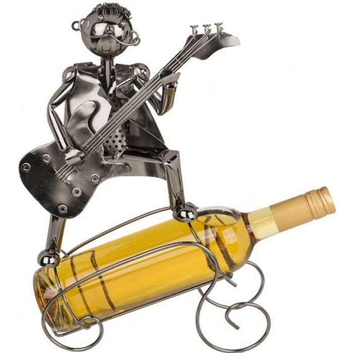 Porte-bouteille Musicien métallique