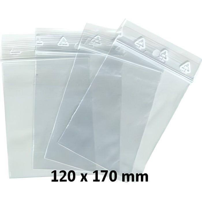 Emballages sachets pour bijoux ou pochette plastique zip 100 pièces 120 x 170 120 x 170 mm