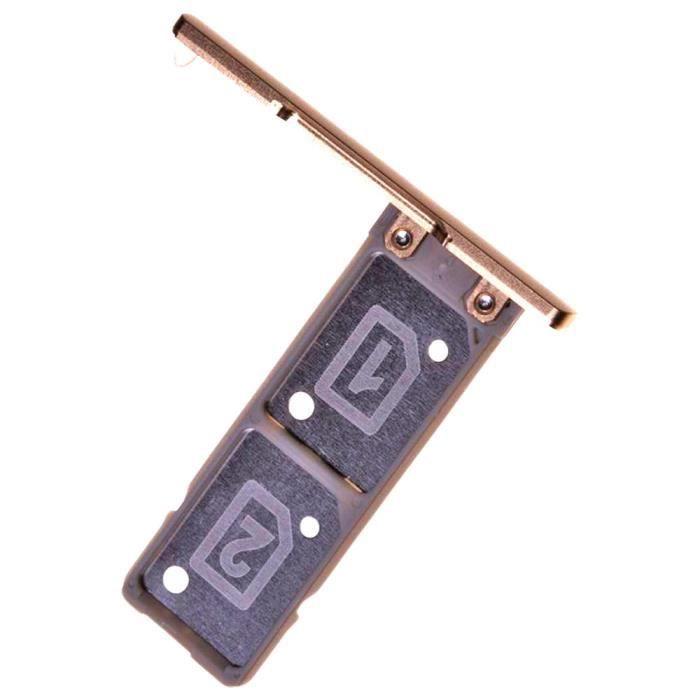Sony Xperia XA1 Ultra (G3212, G3226) Tiroir Carte Dual SIM, Piece de Remplacement Original, Doré