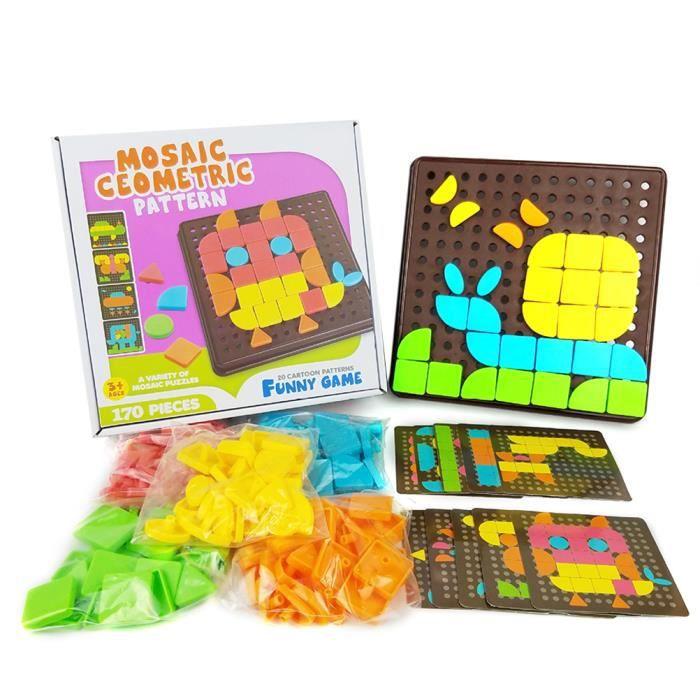 Jeu De Construction Mosaïque Puzzle Enfant Jouet Educatif Créatif Jouet Assemblage pour Garçons et filles plus de 3 ans Enfant