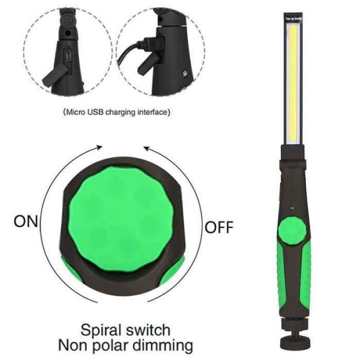 QF15348-Lampe torche de main de lampe d'inspection d'atelier de mécanicien de lumière de travail de l'ÉPI LED rechargeable