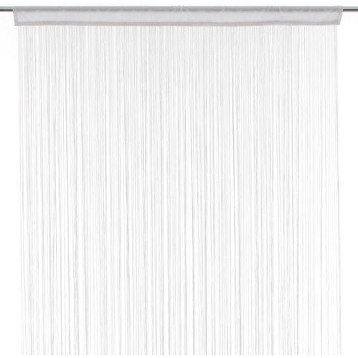 RIDEAU Rideau fils - 120 x 240 cm - Blanc