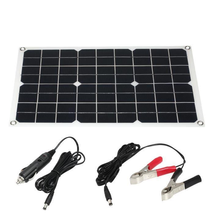 15 W sortie 12V//5V Semi-soft polycristallin panneau solaire avec fils