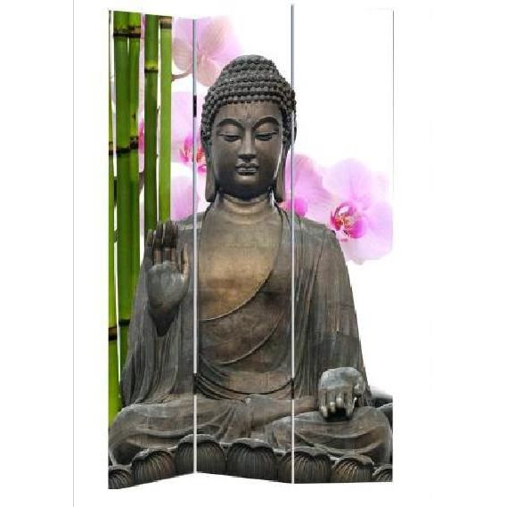 paravent toile zen fenshui bouddha m1 achat vente paravent cdiscount. Black Bedroom Furniture Sets. Home Design Ideas