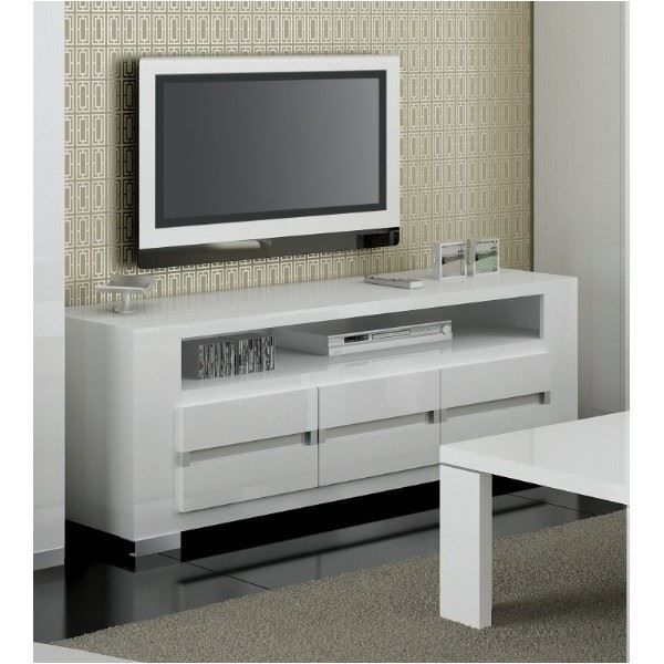 meuble tv plasma design bianca blanc laqu bri achat vente meuble tv meuble tv plasma. Black Bedroom Furniture Sets. Home Design Ideas