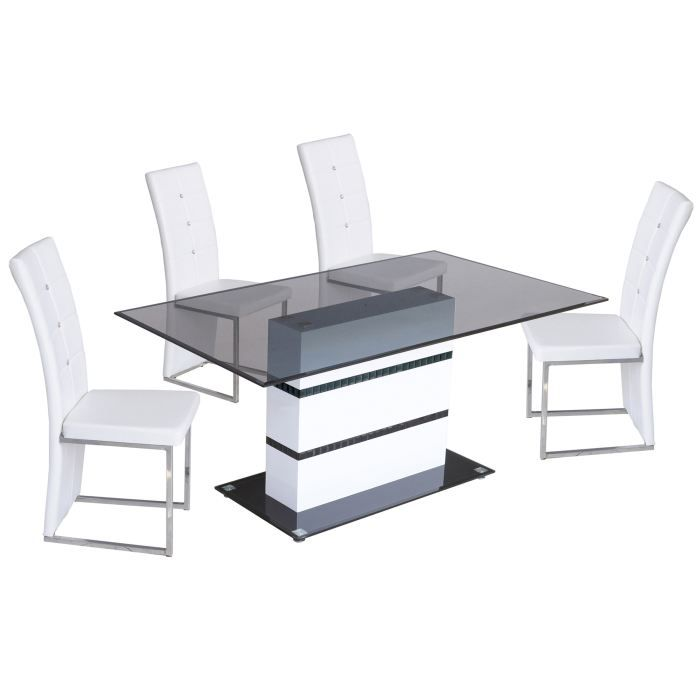 table salle manger design lula blanc achat vente. Black Bedroom Furniture Sets. Home Design Ideas