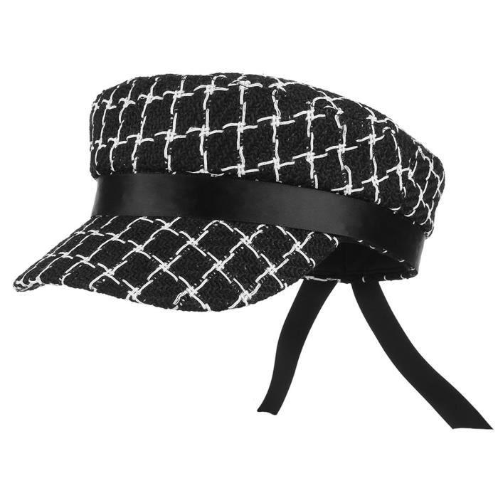 GEMVIE Casquette Femme Chapeau de Marin en Velours Britannique Chapeau Plat Respirant Casquette Visi/ère Vintage Anti-Soleil pour Automne Hiver