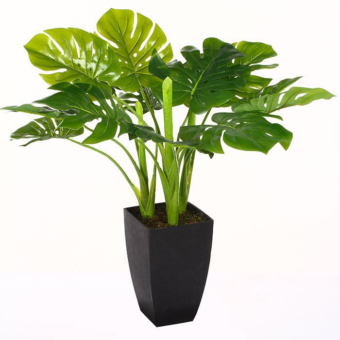 plante verte artificielle 77 cm avec pot achat vente fleur artificielle cdiscount. Black Bedroom Furniture Sets. Home Design Ideas