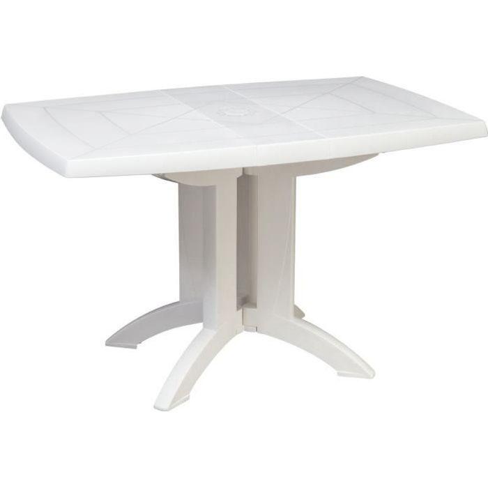 Grosfillex Table Vega 118x77 Blanc Achat Vente Table De Jardin Table Vega 118x77 Blanc Cdiscount