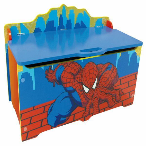grand coffre jouets spiderman achat vente coffre jouets cdiscount. Black Bedroom Furniture Sets. Home Design Ideas