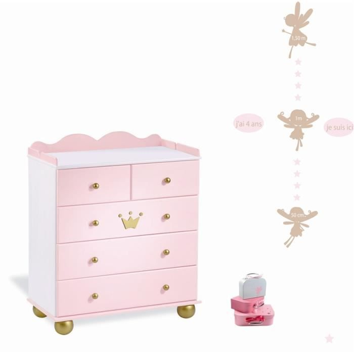 stickers enfant lili pouce toise f es achat vente stickers cdiscount. Black Bedroom Furniture Sets. Home Design Ideas