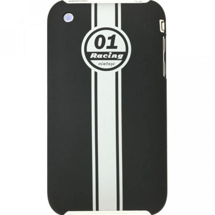 coque iphone 3 3g 3gs racing vintage noir blanc