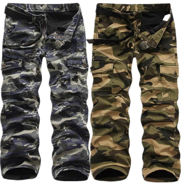 pantalon camouflage cotte homme d hiver avec ve camouflage bleu fonc achat vente. Black Bedroom Furniture Sets. Home Design Ideas