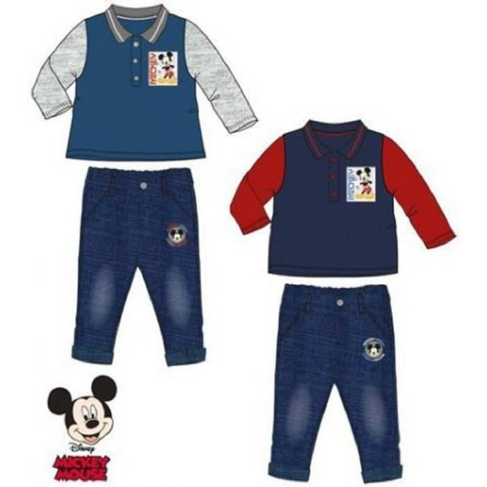 Ensemble de vêtements Ensemble bebe mickey rouge et bleu