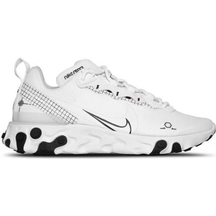 Basket Nike React Element 55 - CU3009-100 Blanc - Cdiscount Chaussures