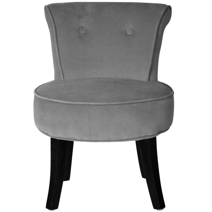 petit fauteuil crapaud louis velours gris achat vente fauteuil gris cdiscount. Black Bedroom Furniture Sets. Home Design Ideas