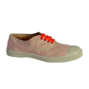 BENSIMON Baskets Basses à Lacets Mini pois - Femme - Rose rSeYpSW