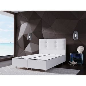 lit coffre 90x190 achat vente lit coffre 90x190 pas cher cdiscount. Black Bedroom Furniture Sets. Home Design Ideas