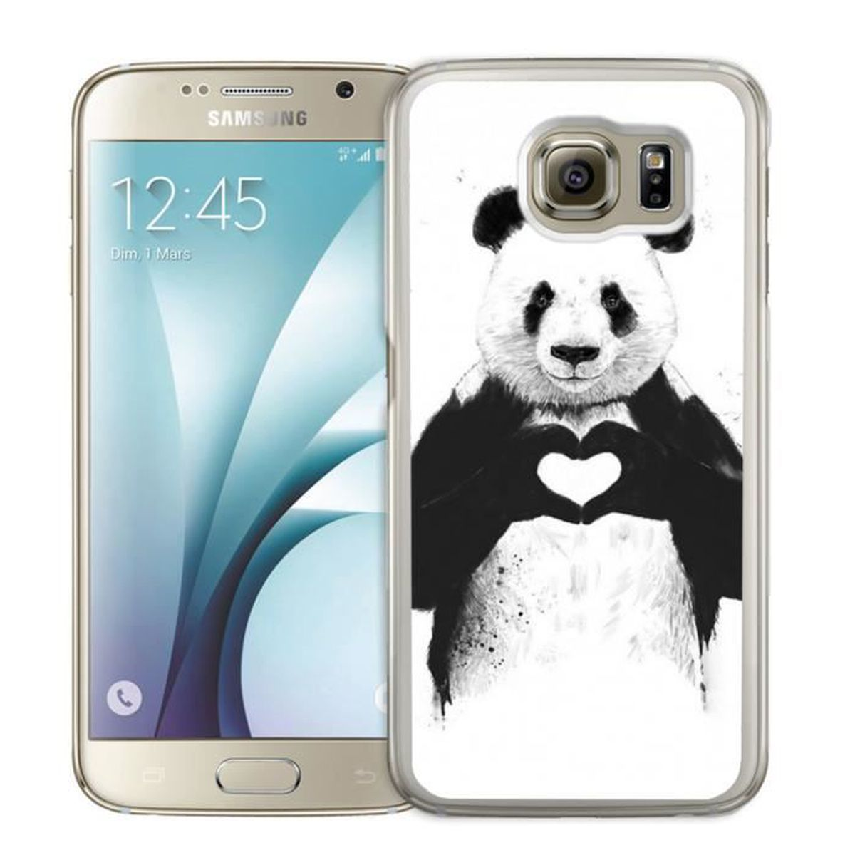 coque samsung galaxy s4 mini panda achat vente pas cher. Black Bedroom Furniture Sets. Home Design Ideas