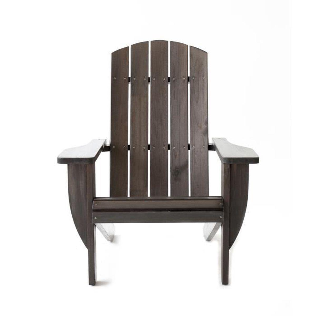 Coussin Pour Fauteuil Adirondack fauteuil de jardin adirondack ottawa en pin massif, tongris