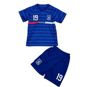T-Shirt Garçon Maillot de Football France 2 étoiles Short Coupe du Monde 2018