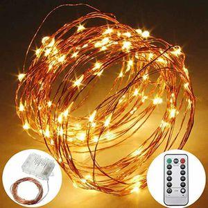 GUIRLANDE D'EXTÉRIEUR Guirlande Lumineuse LED à pile100 LED 10M Guirland