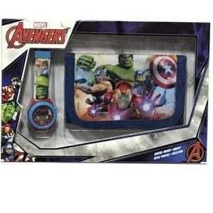 PACK MONTRE Montre Avengers +  portefeuille modèle Aifina