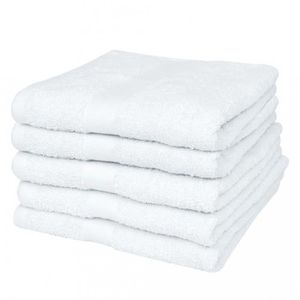 SERVIETTES DE BAIN Magnifique 25 serviettes de toilette blanches 50 x