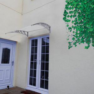 MARQUISE - AUVENT 100*100 cm Auvent - Marquise de porte en polycarbo