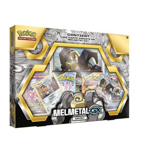 CARTE A COLLECTIONNER Pokemon Coffret Francais de 4 boosters Melmetal GX