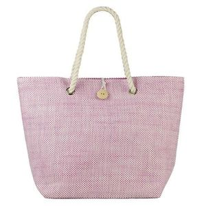 PANIER - SAC DE PLAGE Beco sac de plage en denim look rose