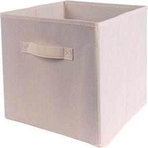 CASIER POUR MEUBLE CASAME Cube pliable en intissé - 28 x 28 x 5 cm -