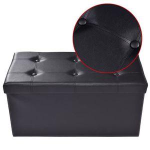 TABOURET Tabouret de cube pouf pliable banc coffre rangemen