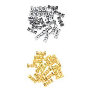 40pcs vintage bijoux connecteur connecteur à vis pour collier fermoirs et