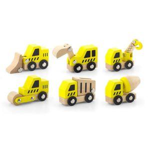 VÉHICULE CIRCUIT Mini véhicules de construction en bois pour enfant