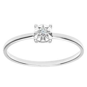 bague diamant solitaire pas cher