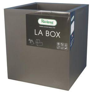 JARDINIÈRE - POT FLEUR  RIVIERA Bac à rétention d'eau La Box - 30 x 30 cm