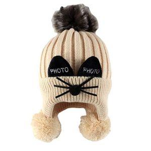 BONNET - CAGOULE Bonnet Cache Oreille Enfant Bébé Tricot Cagoule Ca