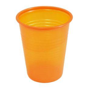 VERRE JETABLE Paquet de 50 gobelets plastique 20cl orange