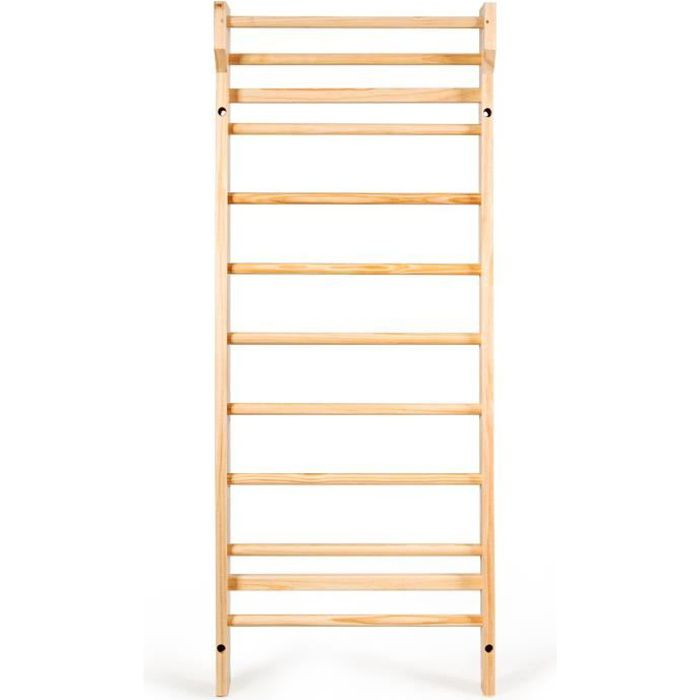 DREAMADE Espalier bois, bois de pin, espalier avec capacité portante max 150kg, échelle suédoise, pour gym fitness complexe sportif