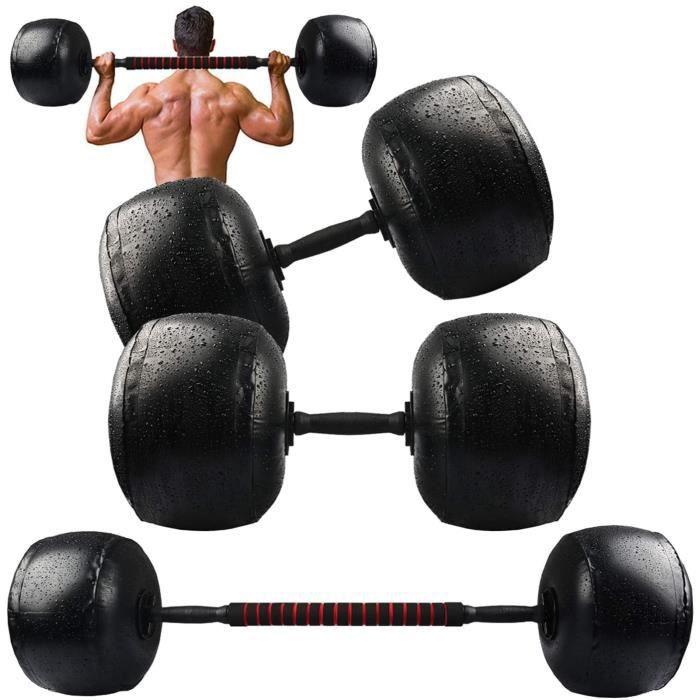 Kit d'Halt&egraveres Musculation 20-40KG, Halt&egraveres remplis d'eau, Poids R&eacuteglable 2 en 1, Ensemble d'halt&egraver23