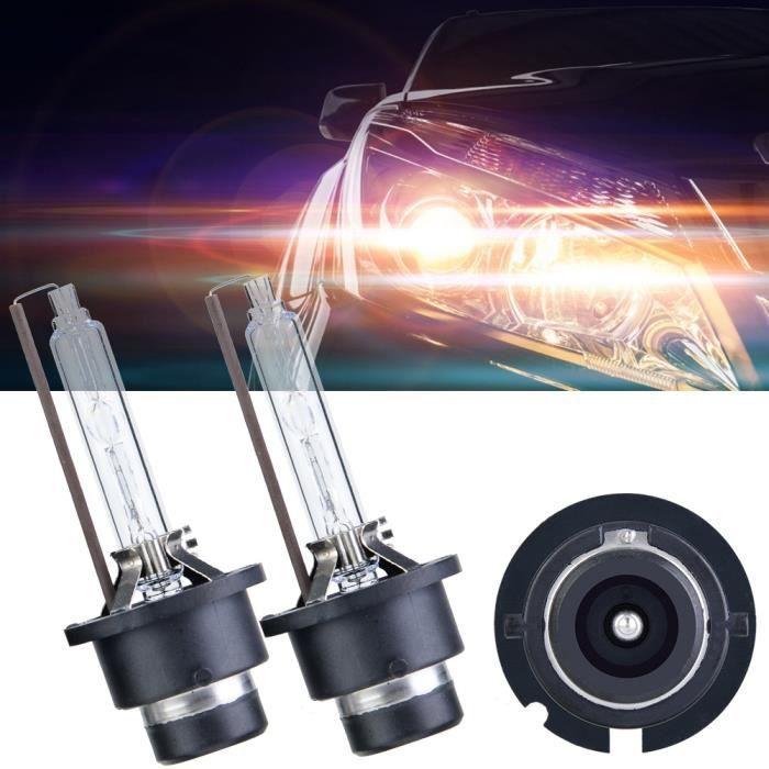XUY PCS D2S 35W Phare Xénon de Voiture 85V AC HID,Ampoules de Remplacement de Lampe au Xénon 6000K D2R - Douille P32d-3
