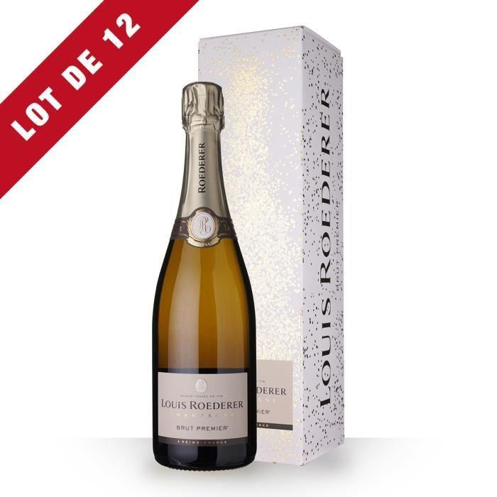 12X Louis Roederer 1er Brut 75cl - Etui - Champagne